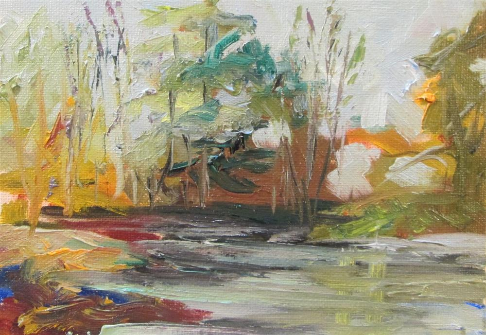 """Stream"" original fine art by Delilah Smith"