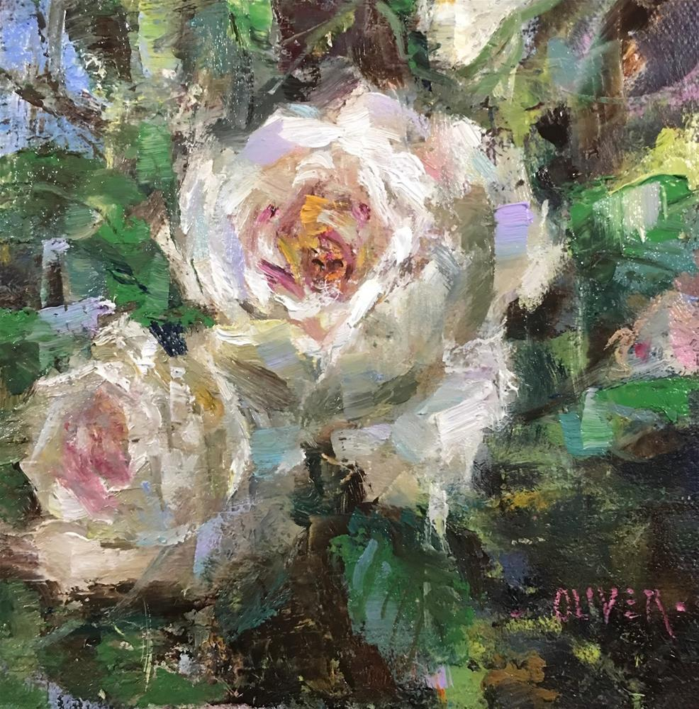 """""""Double Beauty"""" original fine art by Julie Ford Oliver"""