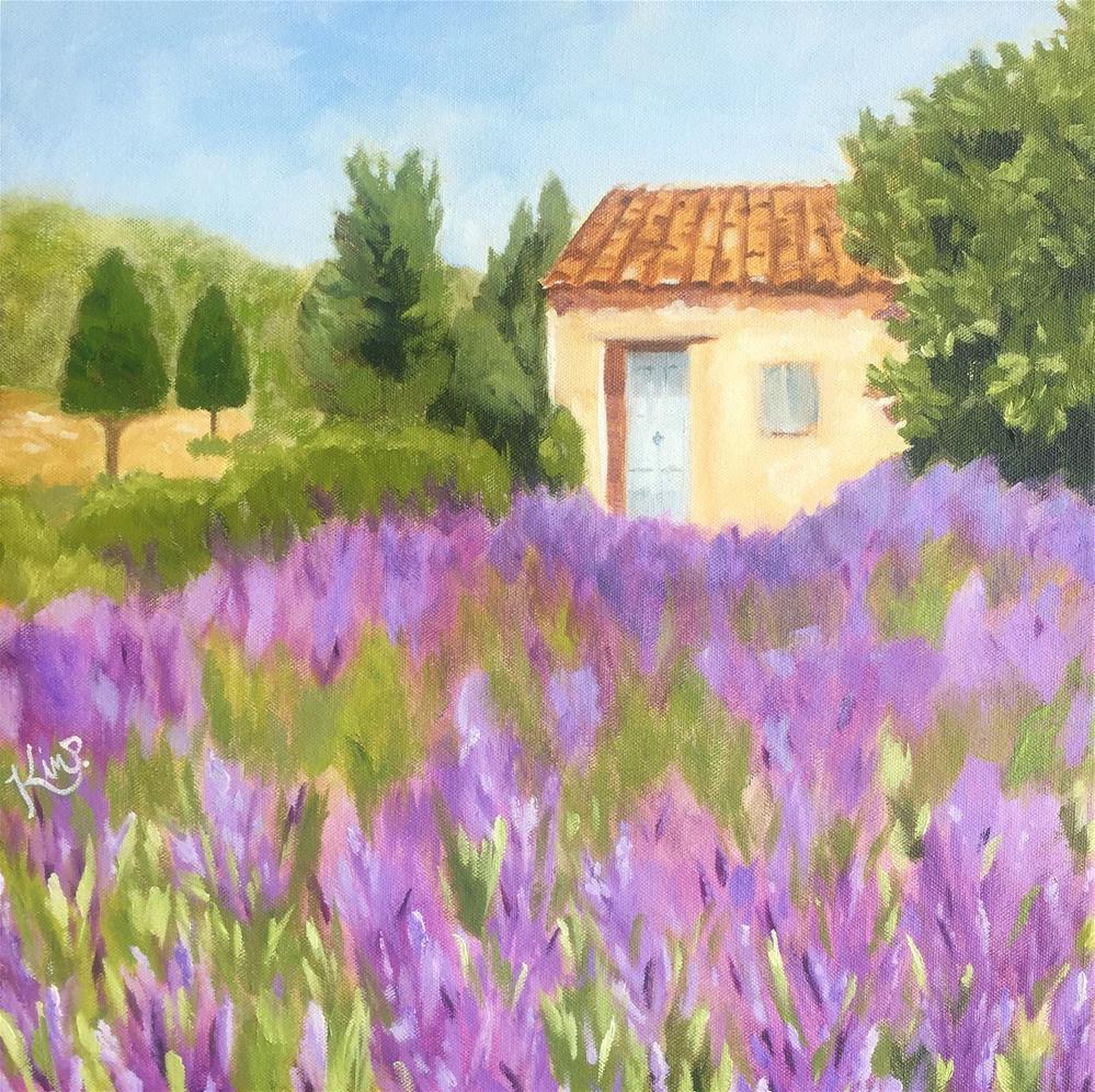 """""""Provence Landscape"""" original fine art by Kim Peterson"""