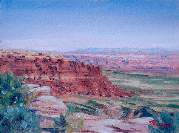 """C1499 ""East from Muley Point"" (near Mexican Hat, Utah)"" original fine art by Steven Thor Johanneson"