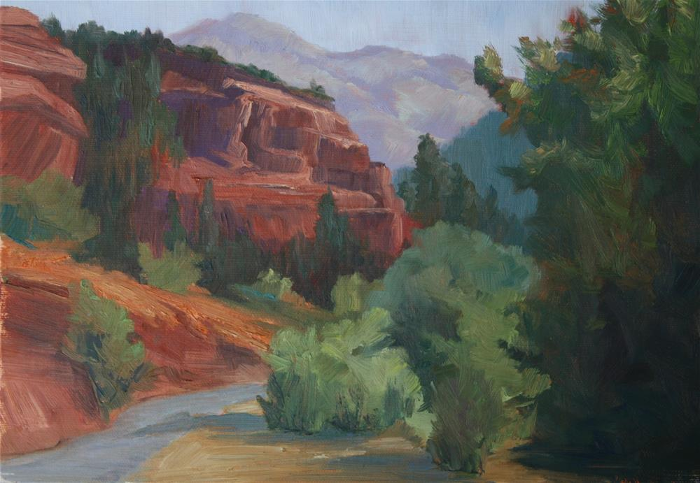 """Crimson Passage"" original fine art by Sheila Marie"