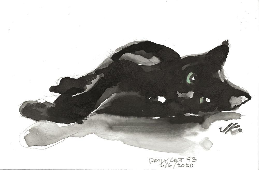 """Daily Cat 98"" original fine art by Jean Krueger"