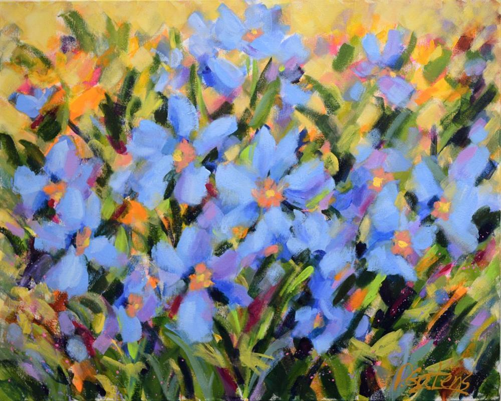 """Field of Blue"" original fine art by Pamela Gatens"