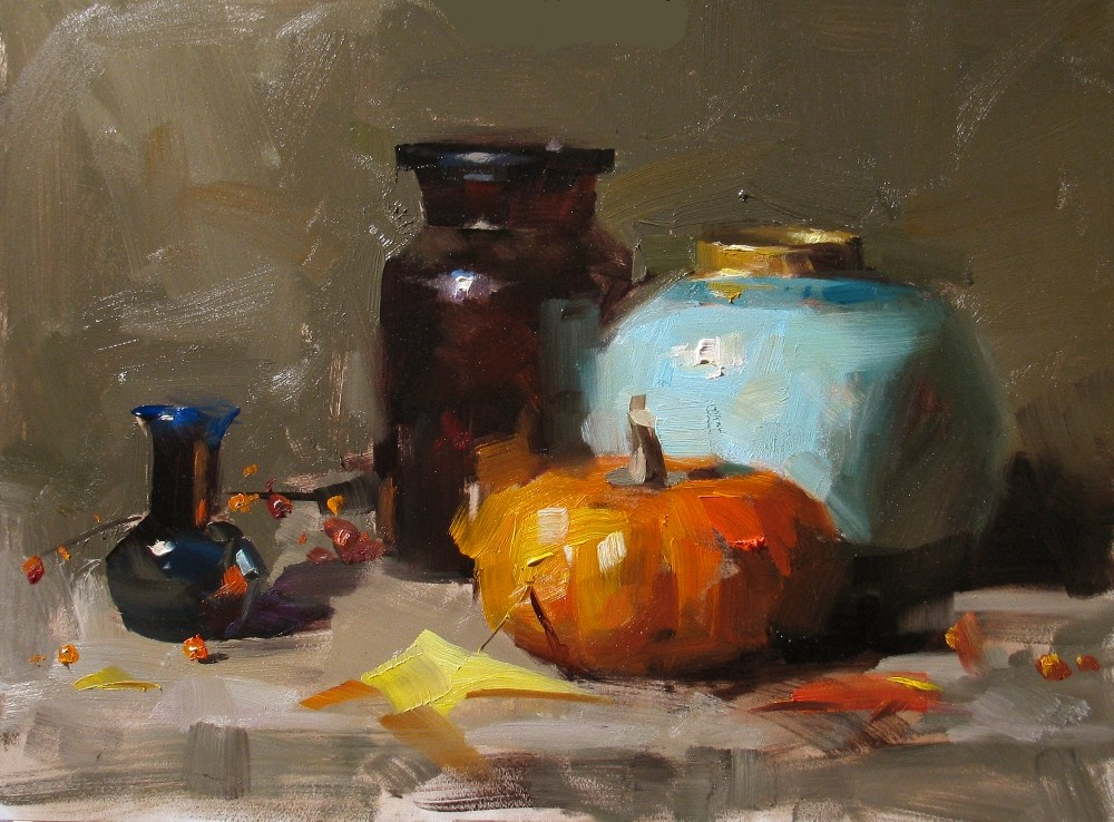 """""""Demo at Wethersfield 2012 1"""" original fine art by Qiang Huang"""