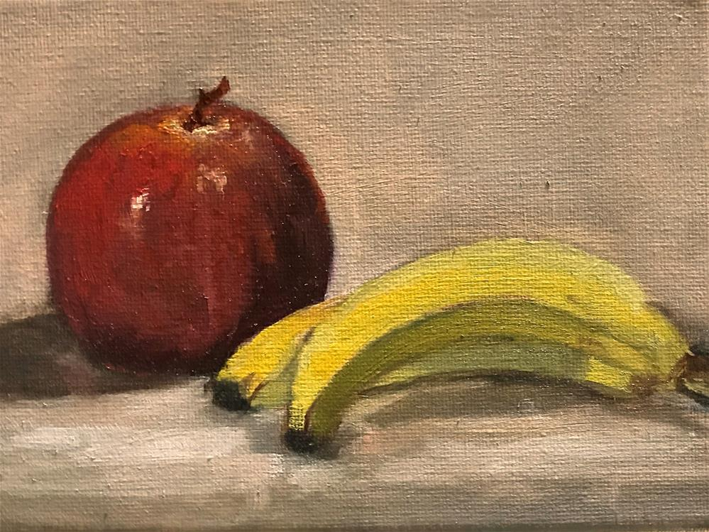 """apple and bananas"" original fine art by Betty Argiros"