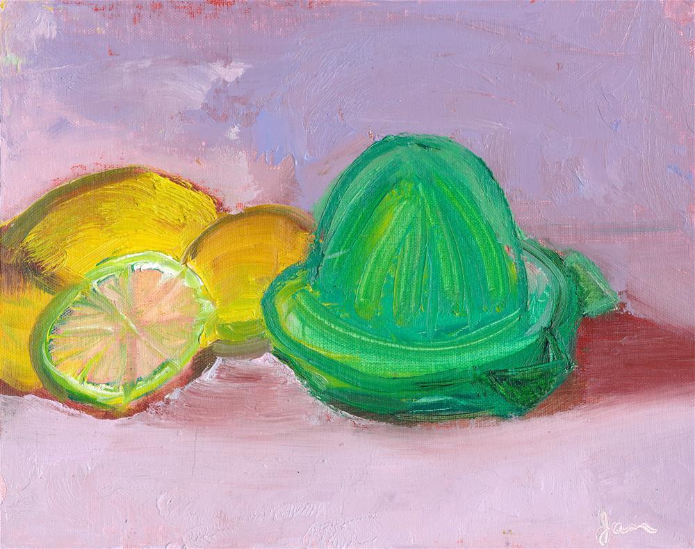 """Citrus Squeezer"" original fine art by Janet Gunderson"