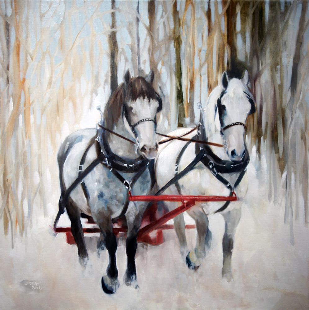 """Snow Day"" original fine art by Elaine Juska Joseph"