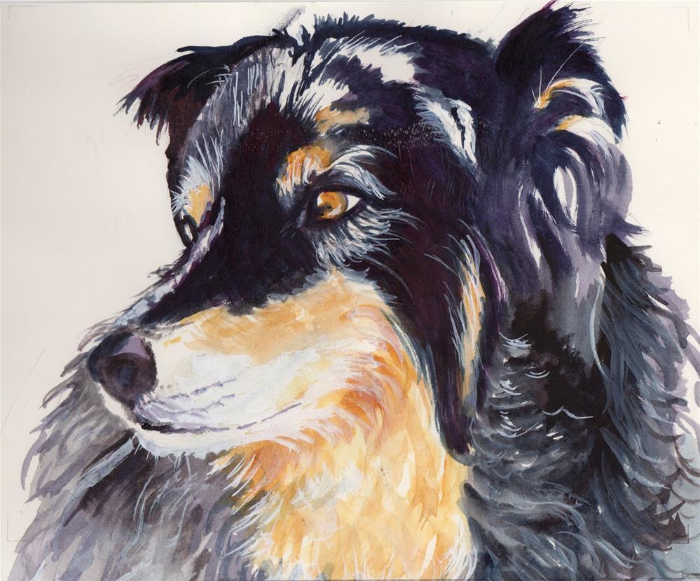 """Mountain Dog"" original fine art by Bunny Griffeth"