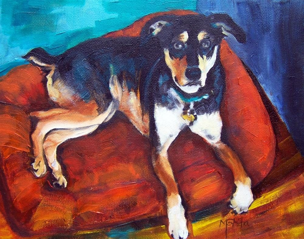 """Rocky at Rest"" original fine art by Maureen Ghetia"