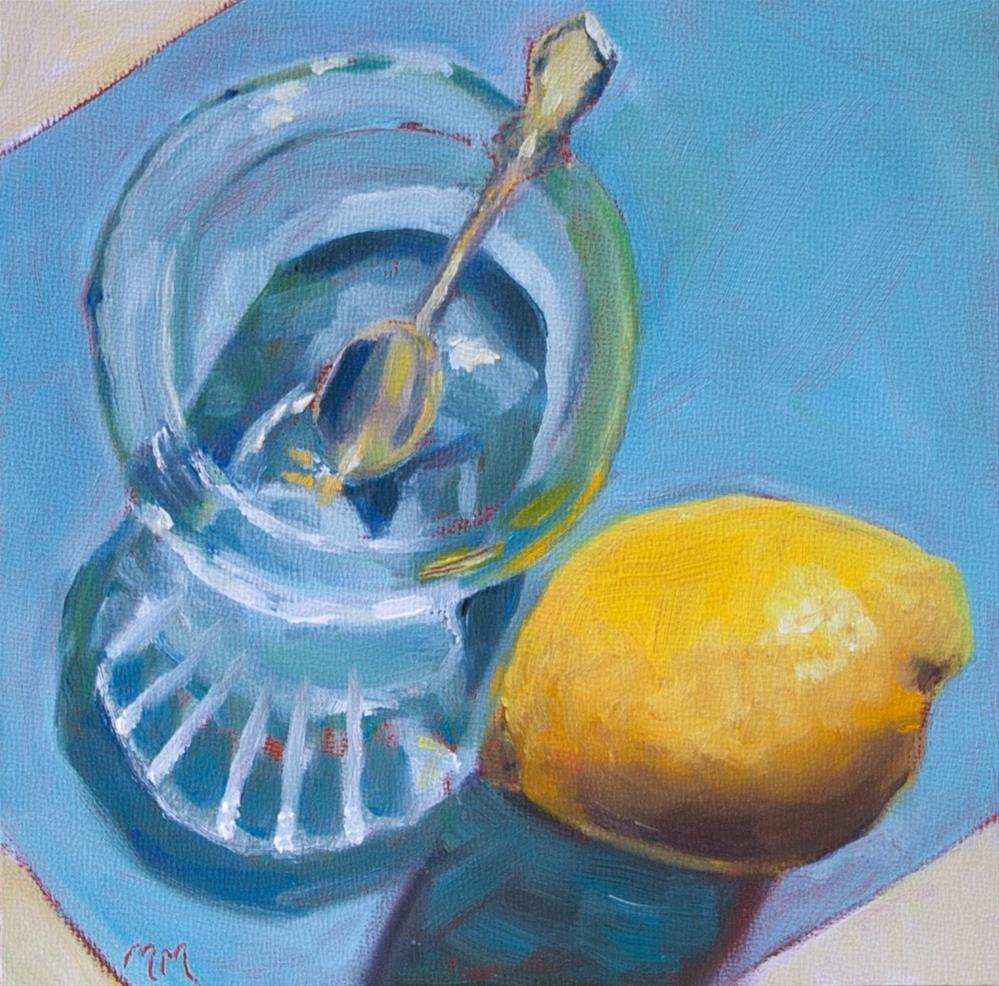 """""""Lemon #1   - 12"""" original fine art by Maria McNitt"""
