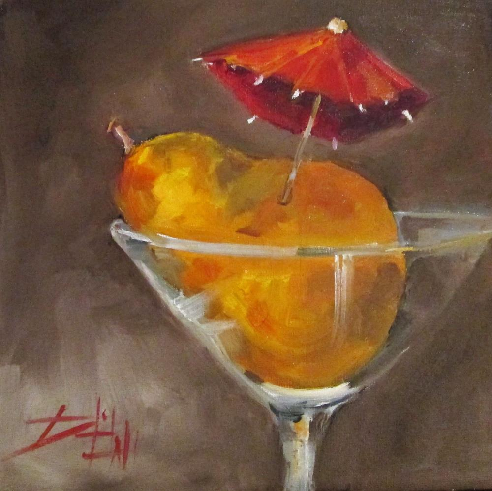 """Pear MArtini"" original fine art by Delilah Smith"