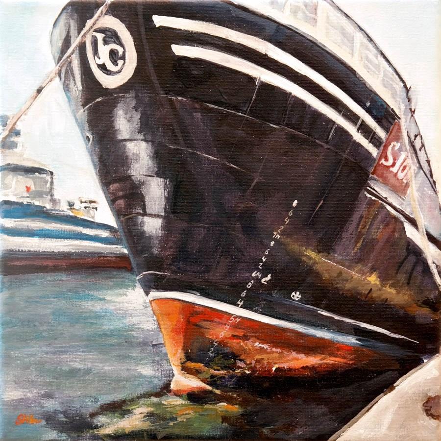 """""""1413 Trawler in Skagen"""" original fine art by Dietmar Stiller"""