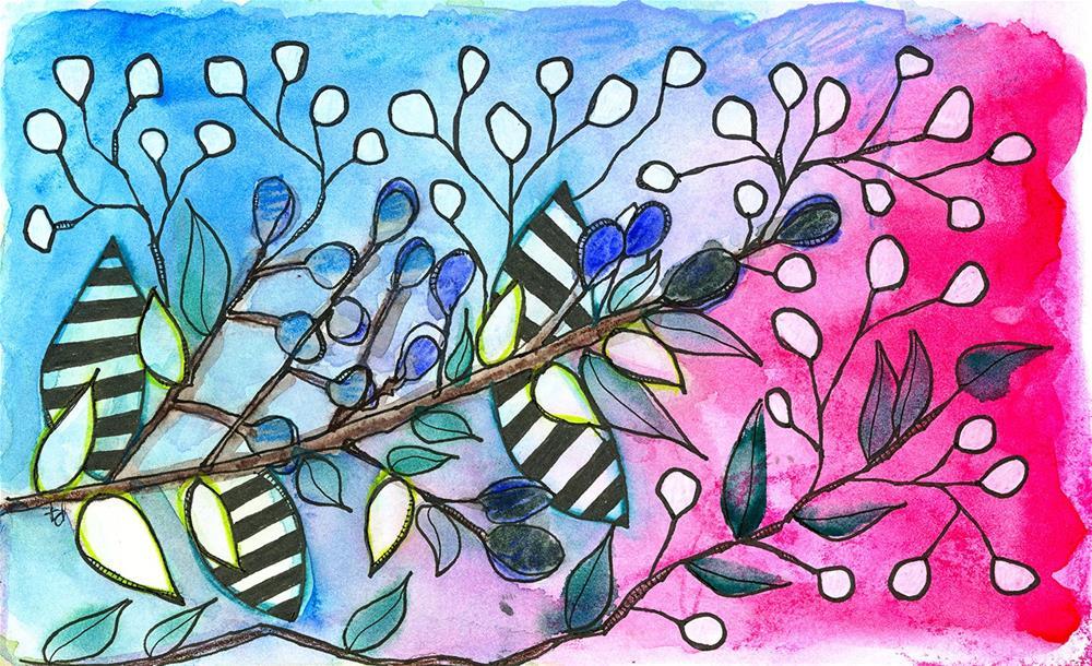 """Beetlejuice"" original fine art by Tonya Doughty"