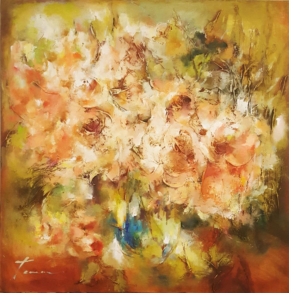 """""""flowers in glass vase"""" original fine art by Teresa Yoo"""