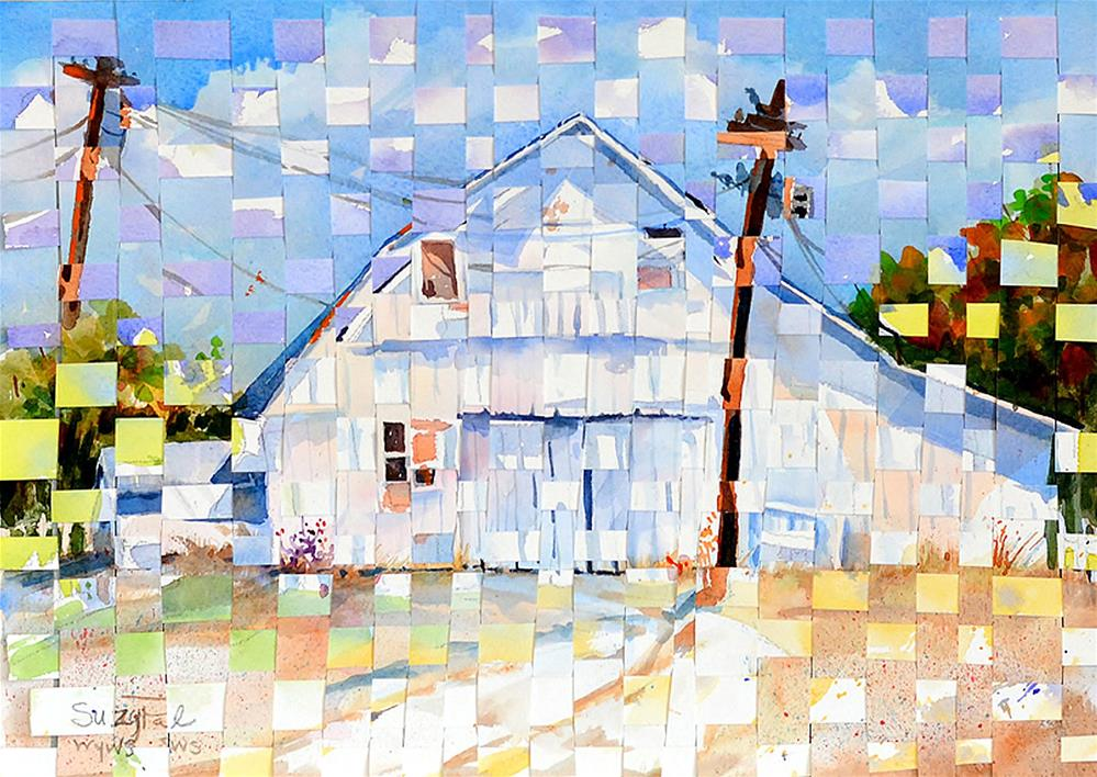 """Woven Barn"" original fine art by Suzy 'Pal' Powell"