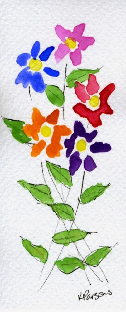 """""""Birthday Bouquet"""" original fine art by Kali Parsons"""