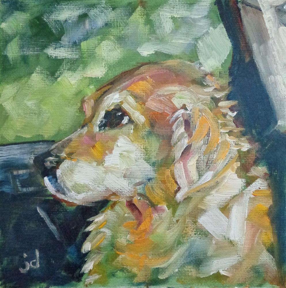 """The Passenger"" original fine art by Jean Delaney"