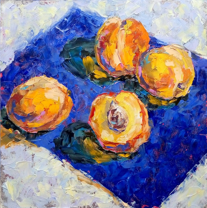 """Peaches"" original fine art by Valerie Lazareva"