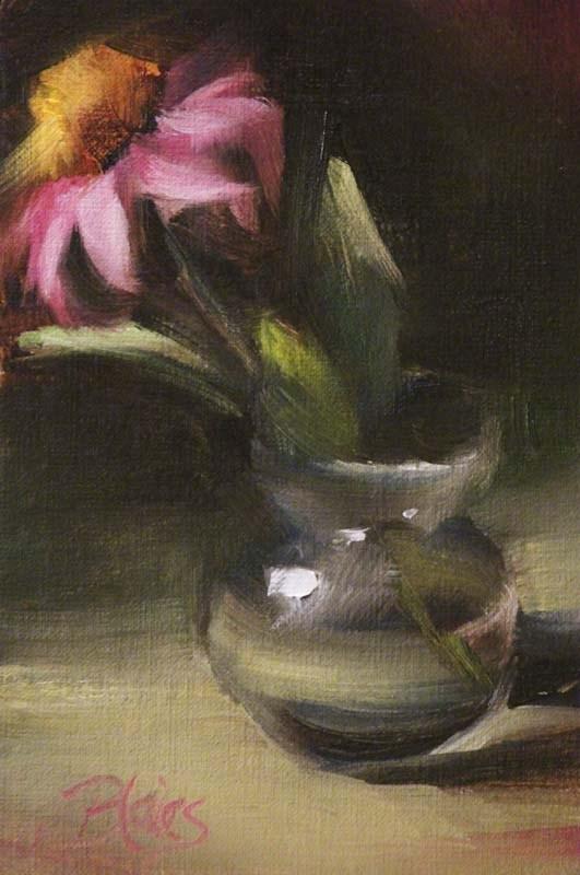 """Freshly Cut Coneflower"" original fine art by Pamela Blaies"