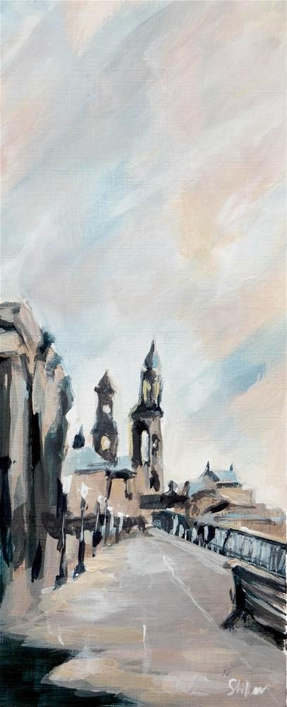"""1865 Banks of Dresden"" original fine art by Dietmar Stiller"