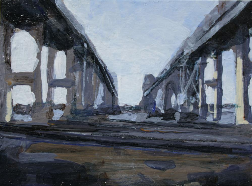 """Grand Island Bridge"" original fine art by Chris Breier"