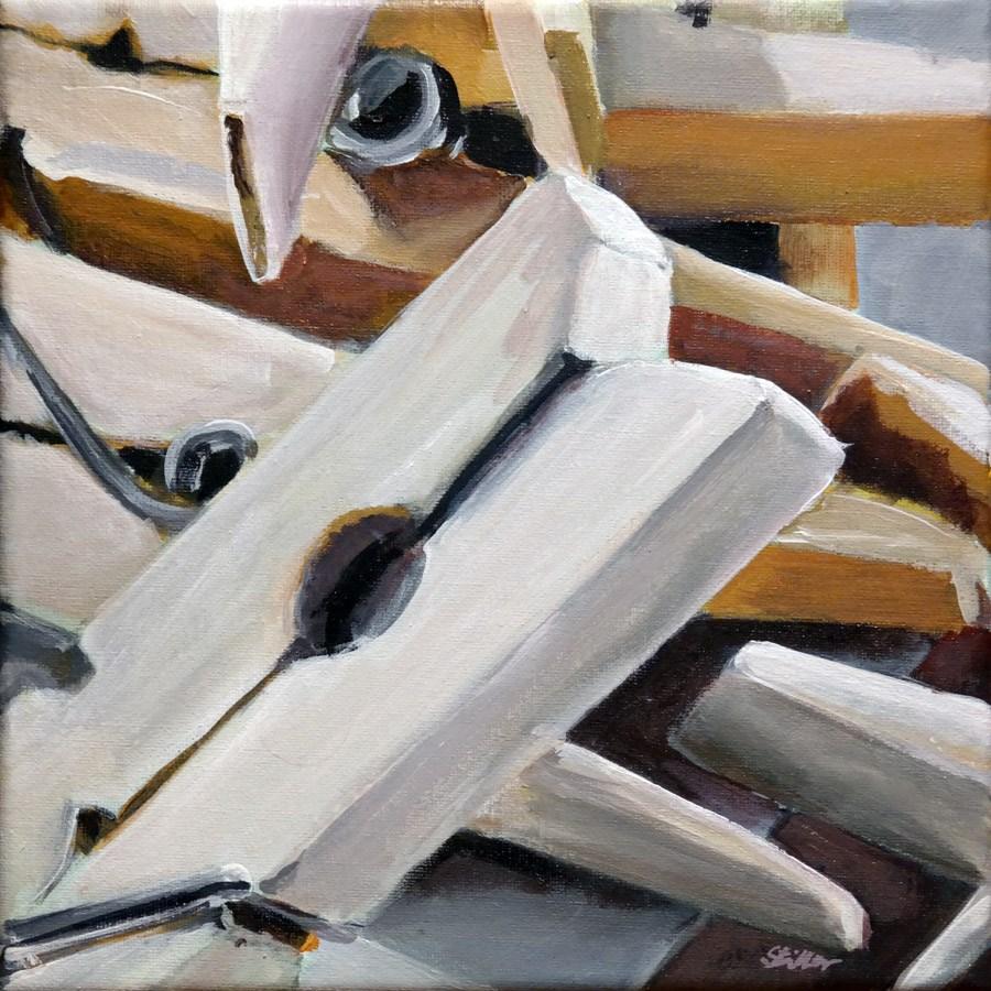 """""""1324 Clothespin"""" original fine art by Dietmar Stiller"""