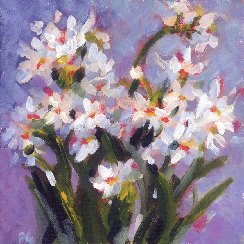 """Joan's Paperwhites"" original fine art by Pamela Gatens"