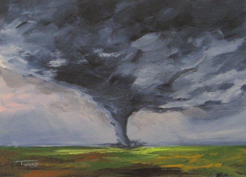 """Tornado VIII"" original fine art by Torrie Smiley"