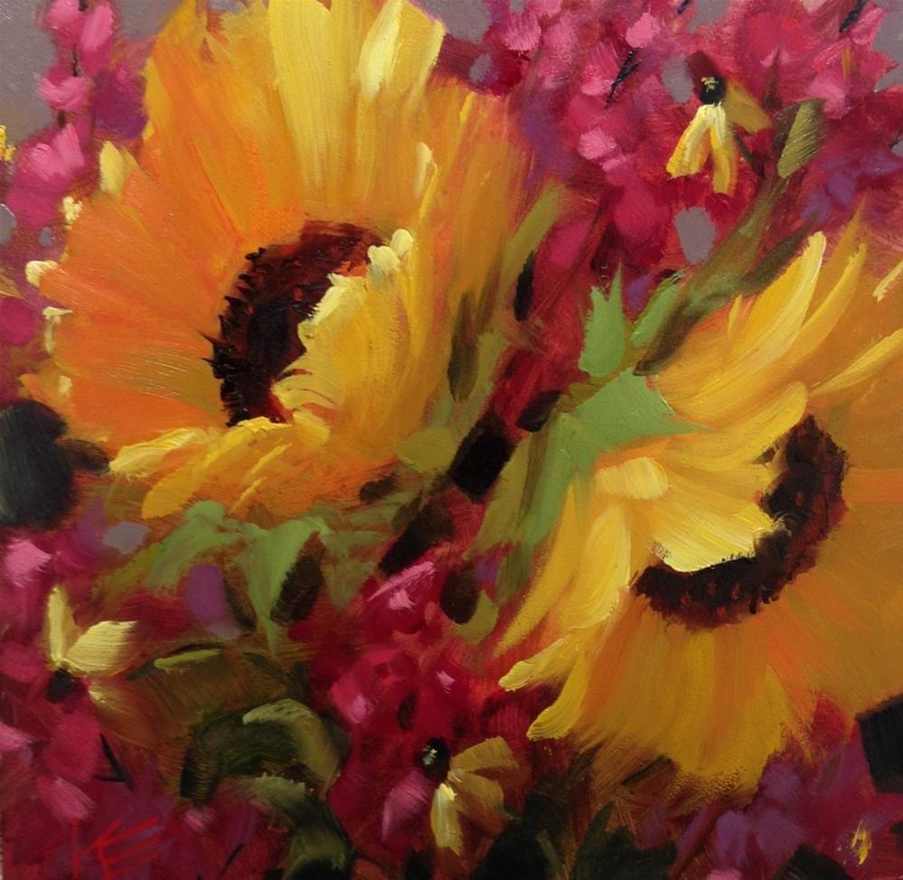 """Sunshine Spontaneity"" original fine art by Krista Eaton"