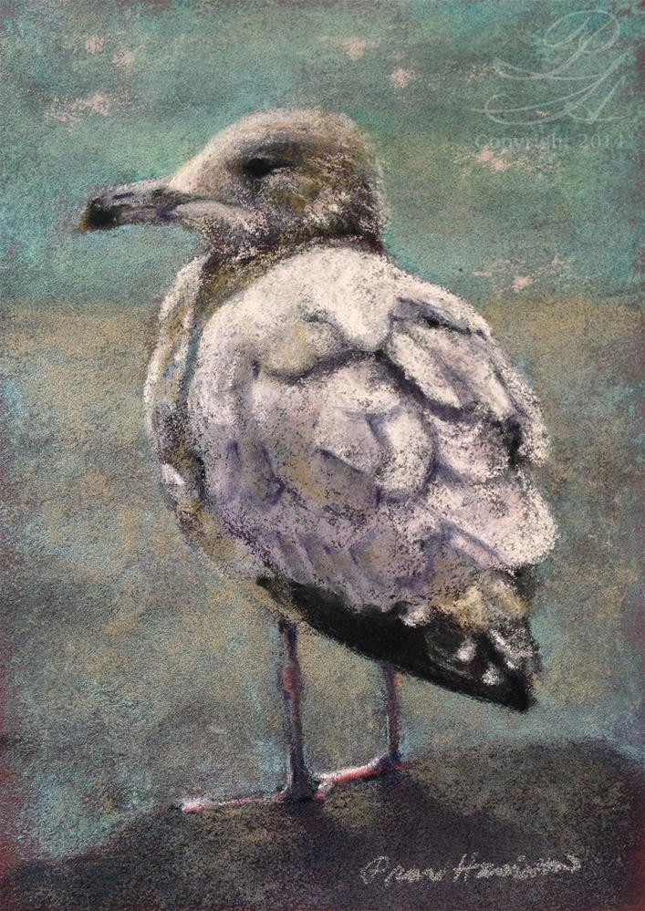 """Shore Bird 2"" original fine art by Pamela Hamilton"