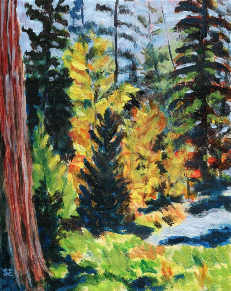 """""""Into The Woods"""" original fine art by Stanley Epperson"""