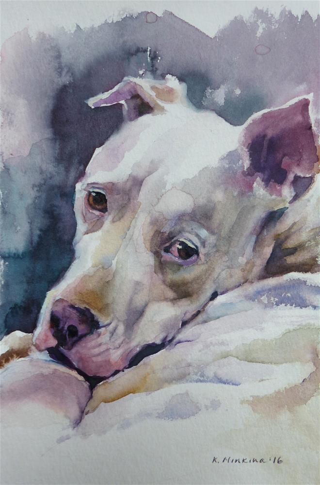 """adopt169 - What"" original fine art by Katya Minkina"