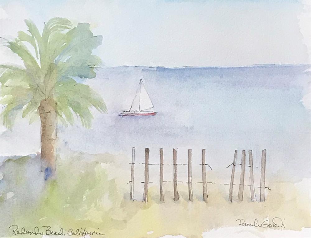 """Redondo Beach"" original fine art by Pamela Gorecki"
