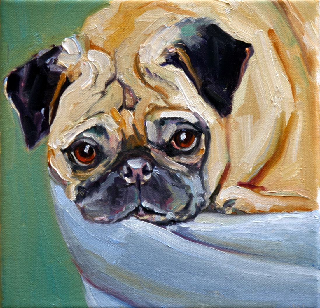 """zola"" original fine art by Carol Carmichael"