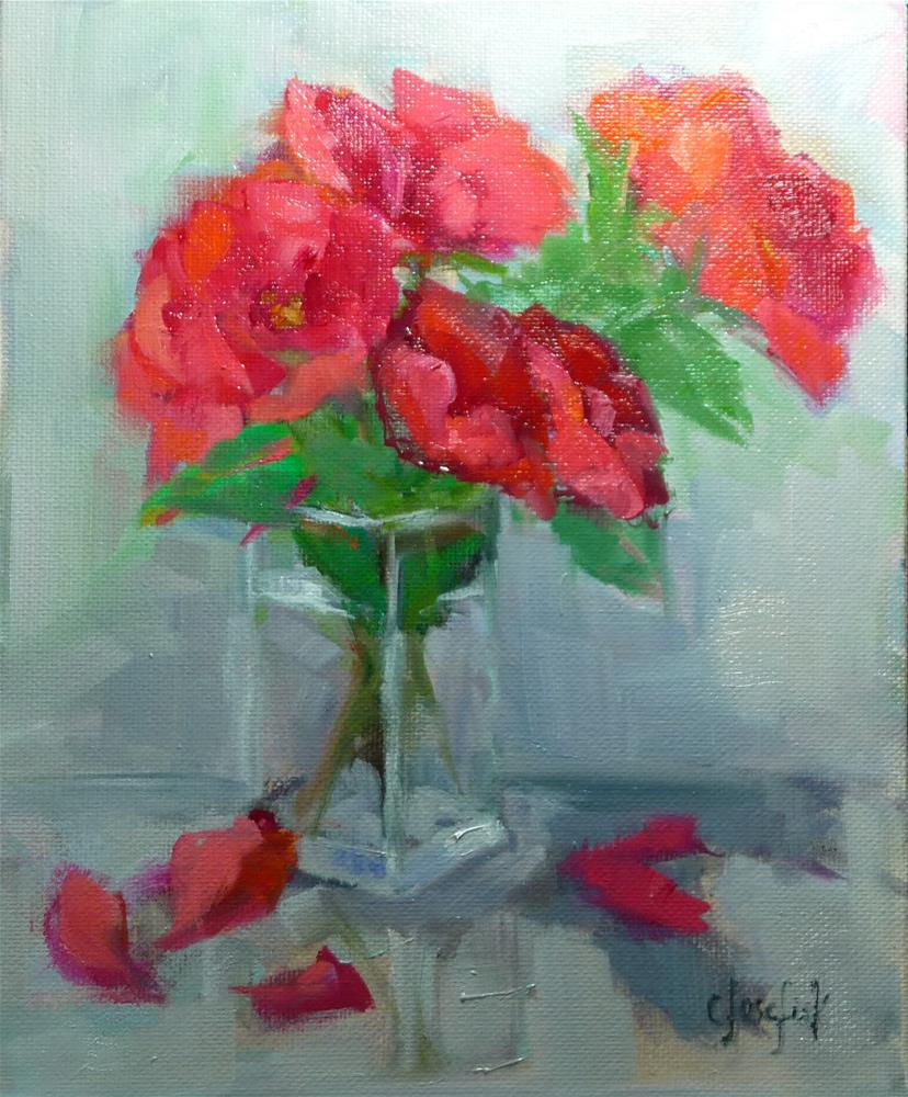 """Knock-out Roses"" original fine art by Carol Josefiak"