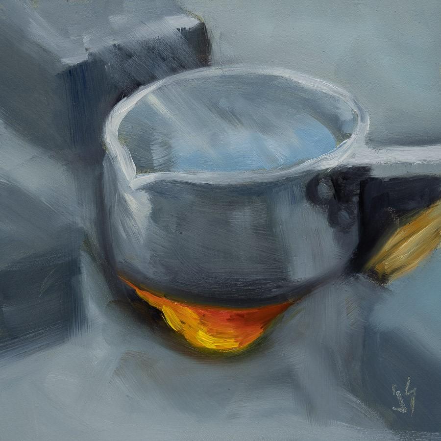 """Campfire Tea"" original fine art by Johnna Schelling"