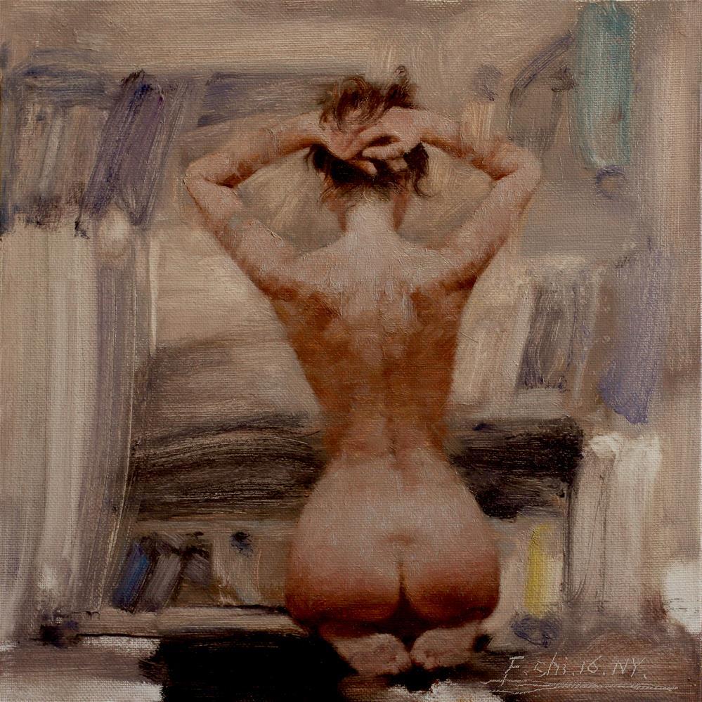 """Human body oil painting"" original fine art by fengshi jin"