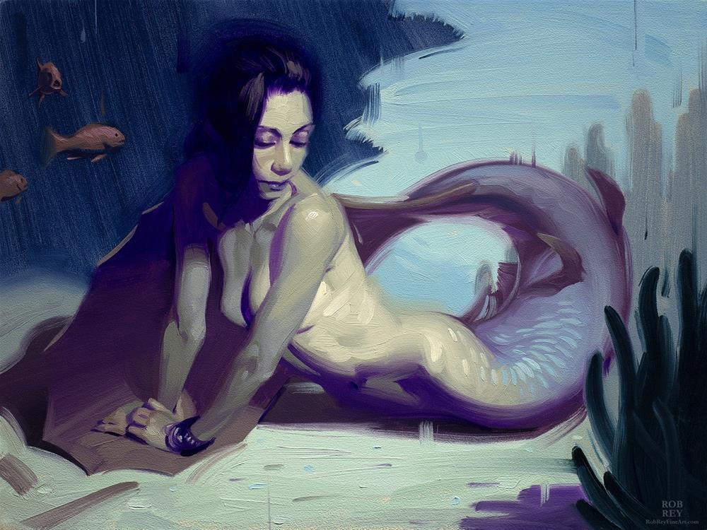 """In Knots, Study"" original fine art by Rob  Rey"