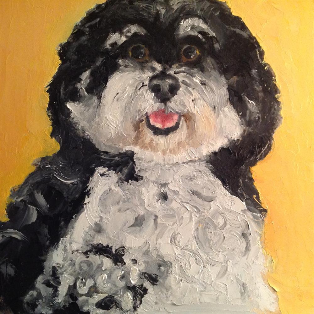 """Pucci"" original fine art by Sarah Ross"