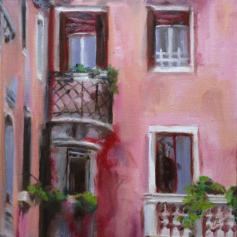 """Courtyard View"" original fine art by Linda Lowery"