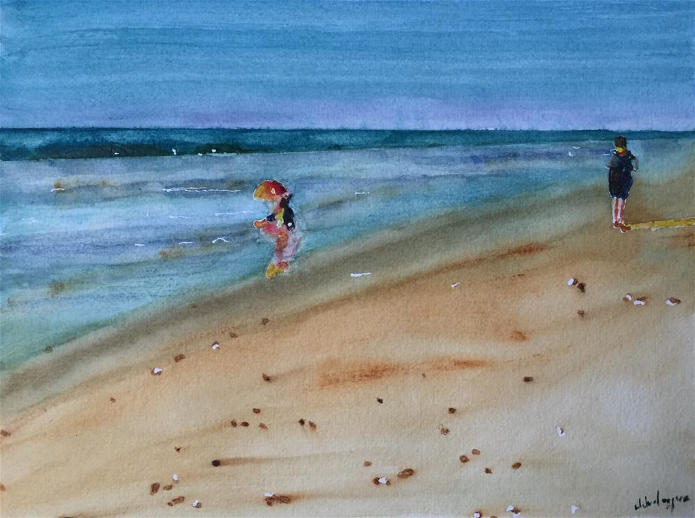 """Beach Day"" original fine art by Juan Velasquez"