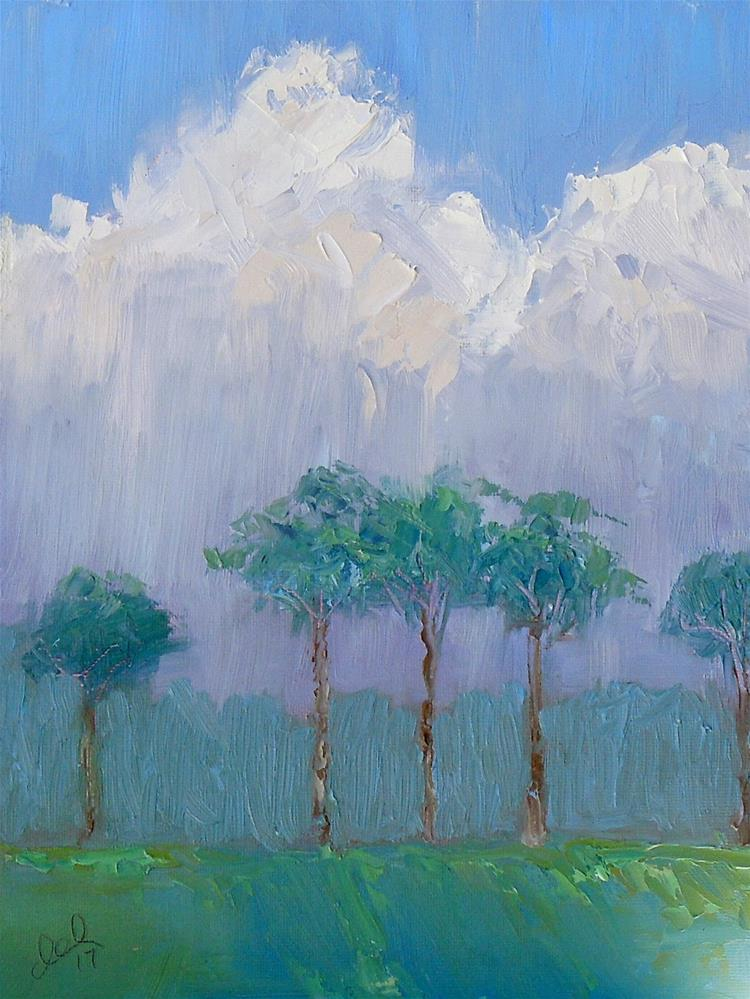 """Rainy Day in Paradise"" original fine art by Doreen Lepore"