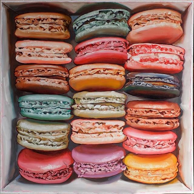 """Macarons in box IV"" original fine art by Haze Long"