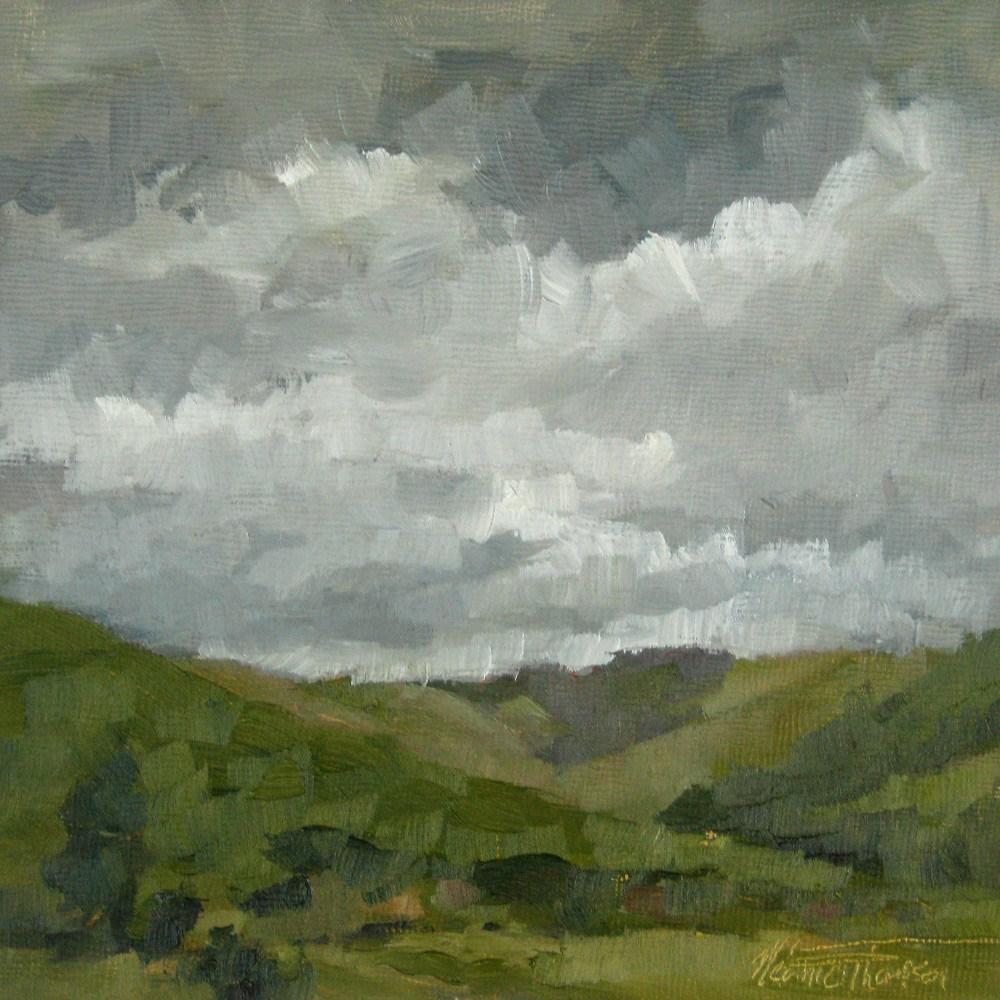 """""""Rainy Dayton"""" original fine art by Melanie Thompson"""