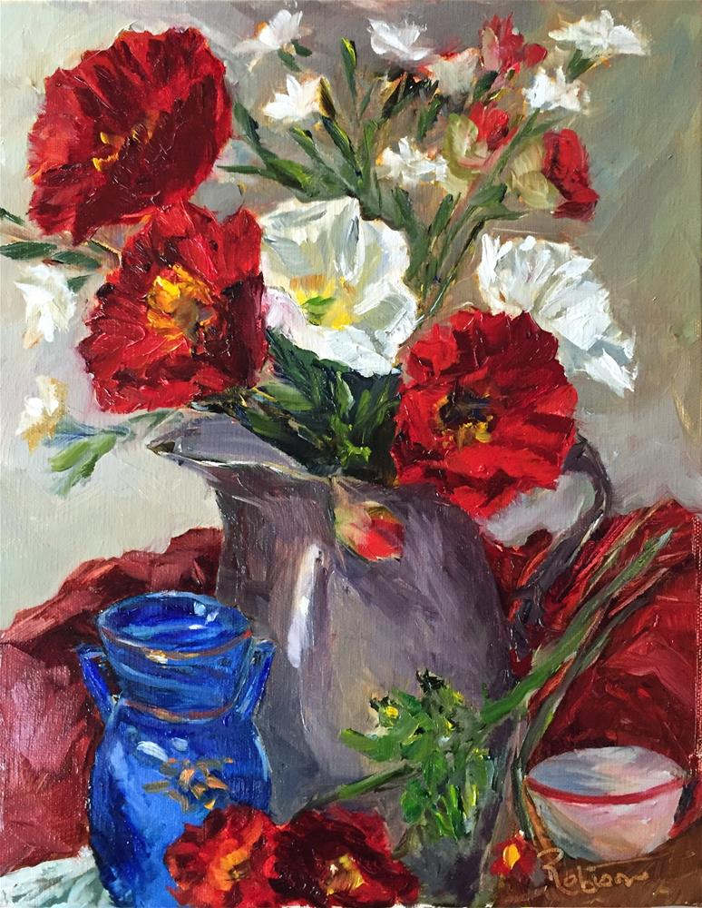 """Poppies of Color"" original fine art by Renee Robison"