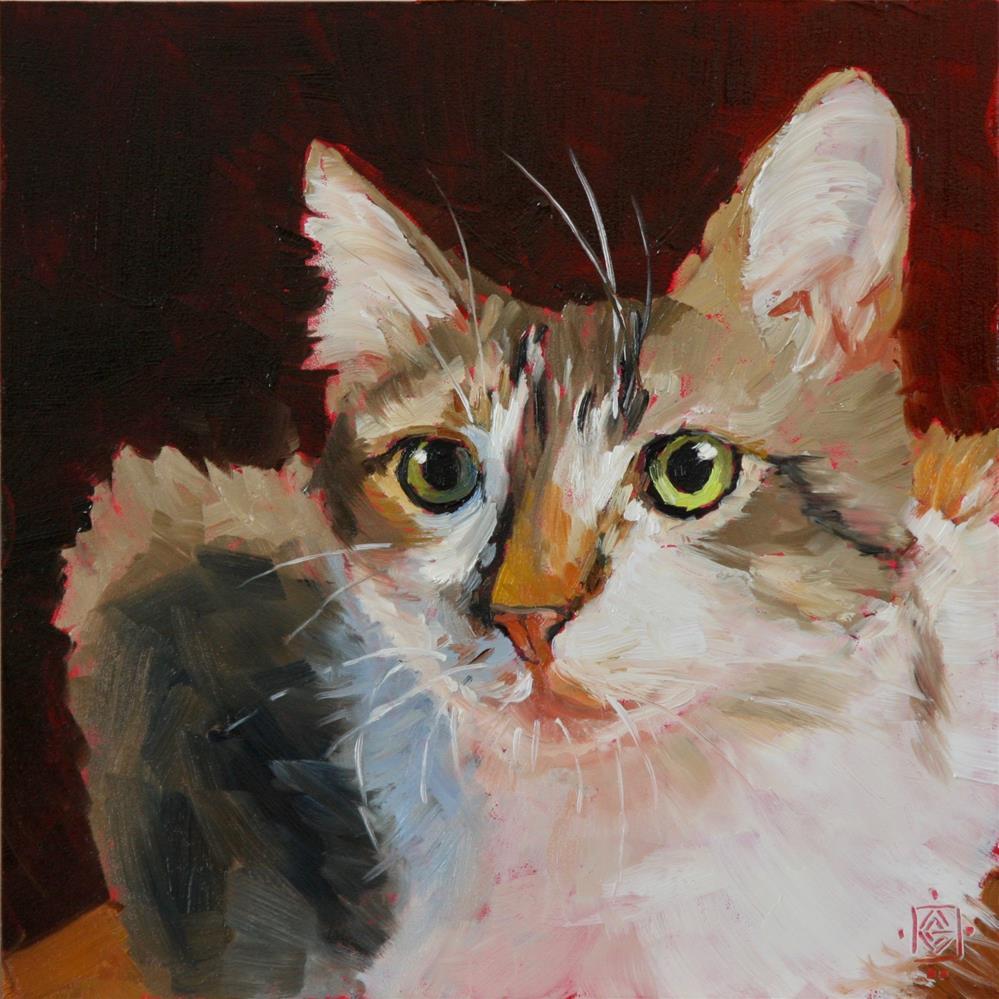 """""""Just a Hunch"""" original fine art by Carol Granger"""