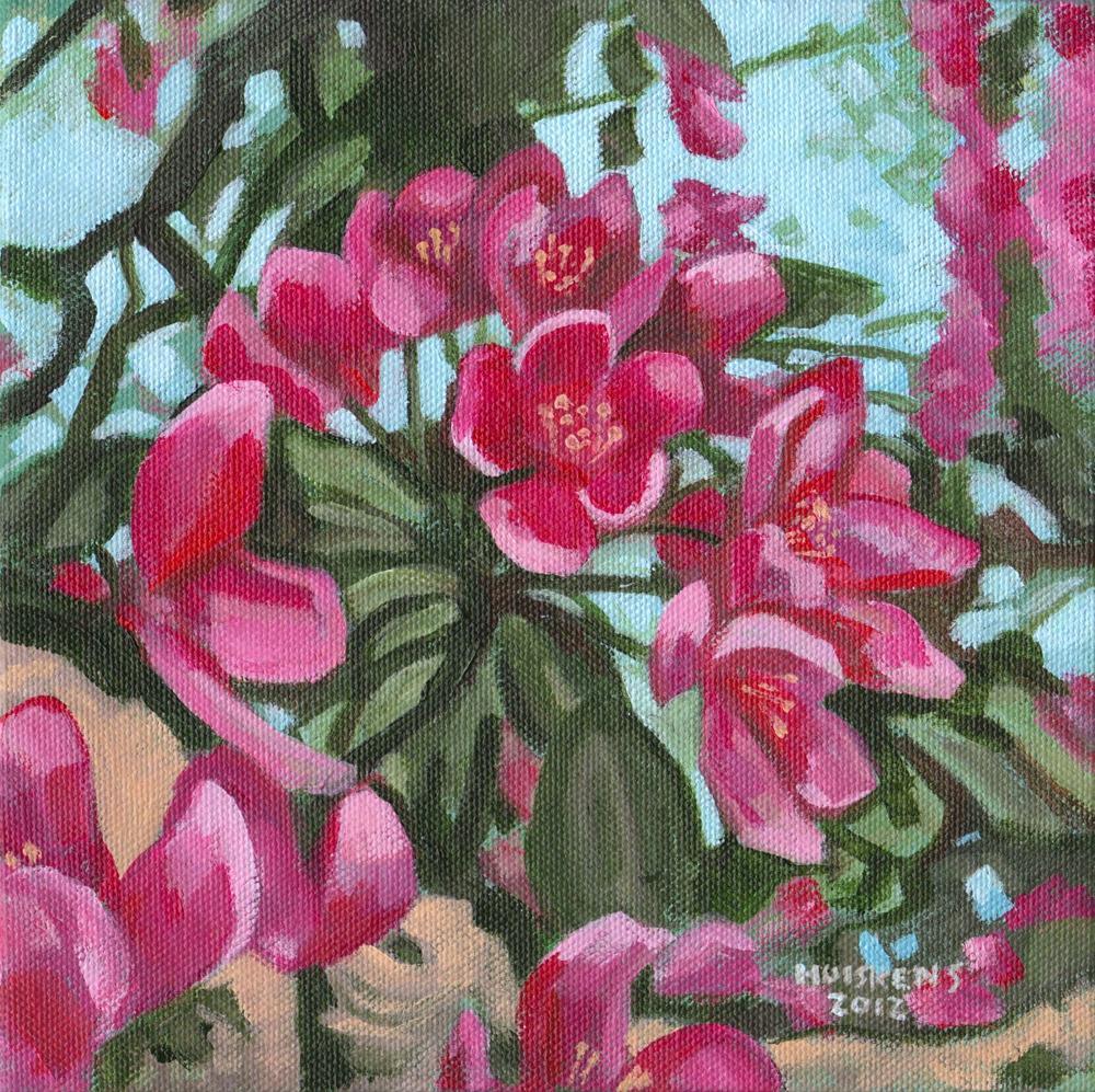"""Apple Blossoms No. 2"" original fine art by Randal Huiskens"