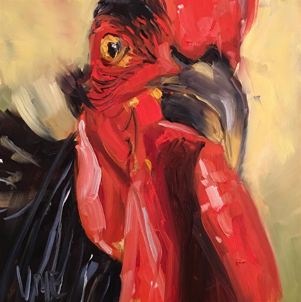 """#439 Year of the Rooster"" original fine art by Patty Voje"