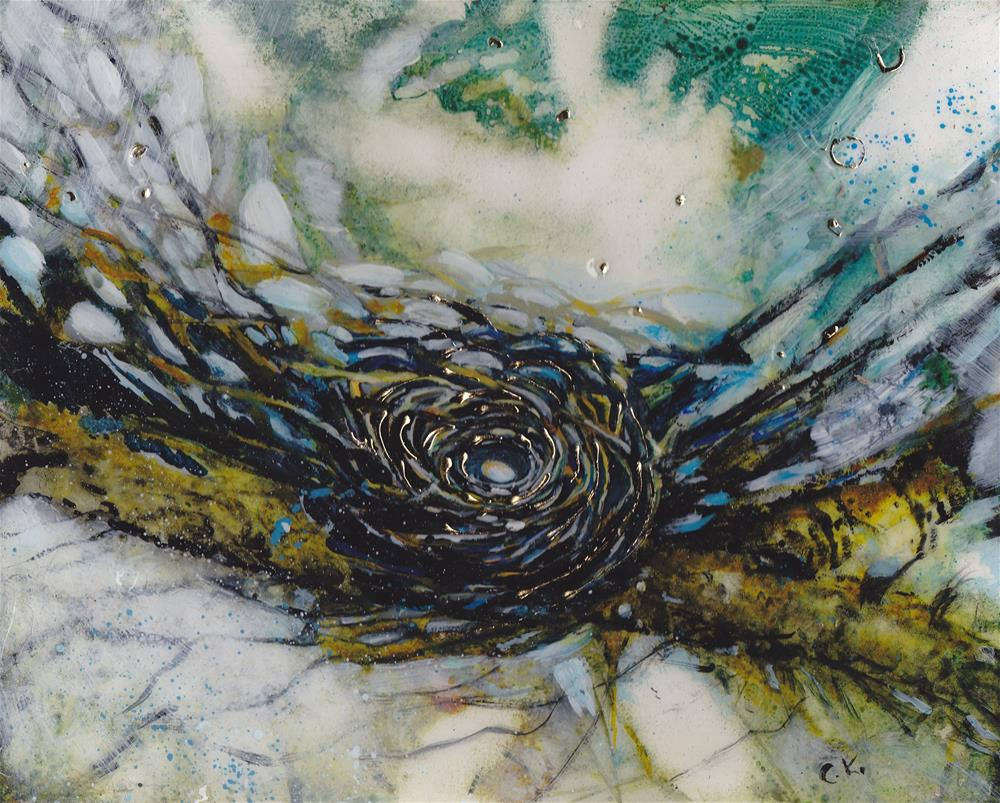 """Golden Nest II"" original fine art by Christiane Kingsley"