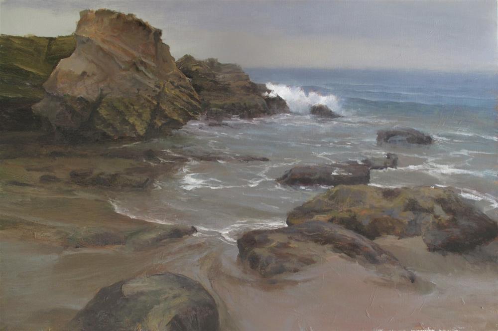 """Heistler Park, Laguna Beach 24x36"" original fine art by Pavel Gazur"